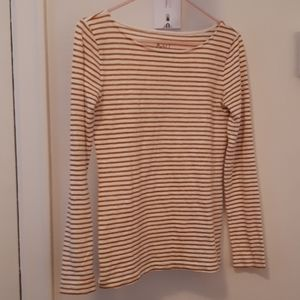 J Crew artist tee copper/gold stripes